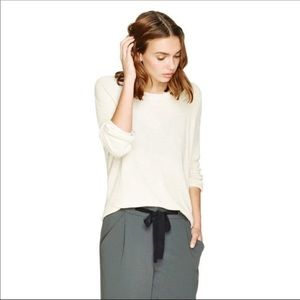 ARITZIA Wilfred Ivory Silk & Cashmere Sweater Top